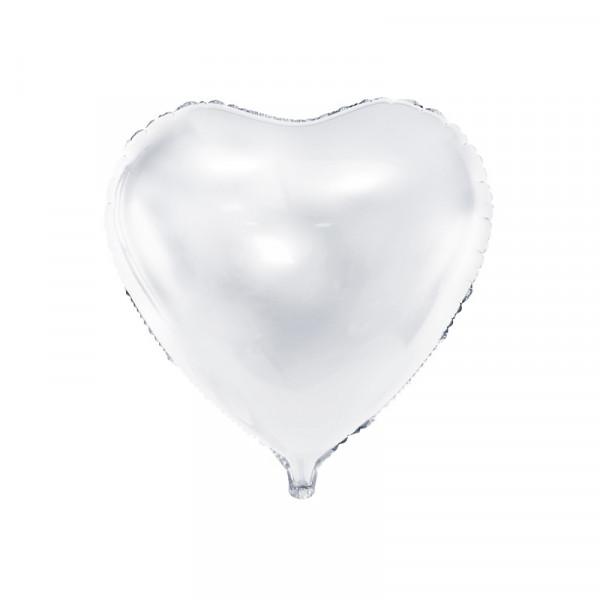Folienballon Herz 45 cm - weiß