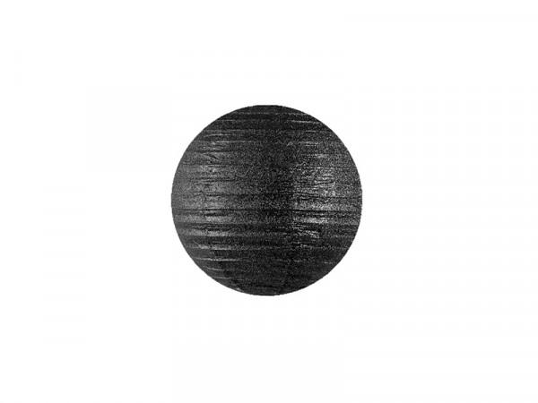 Laterne / Lampion rund 20 cm schwarz