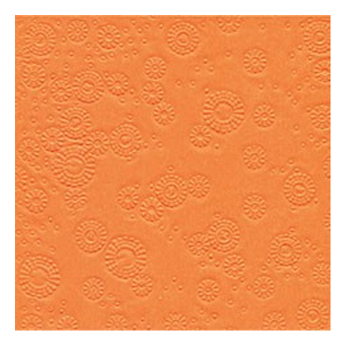 Servietten Moments geprägt (16 Stück) - orange