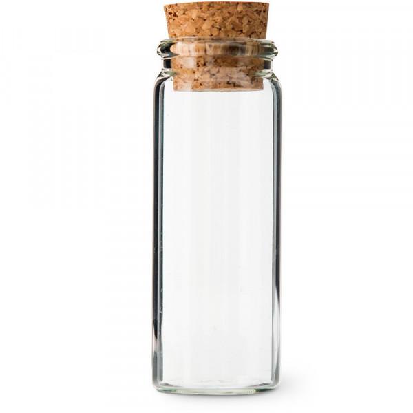 Reagenzglas / Glasröhrchen, transparent H 8 cm