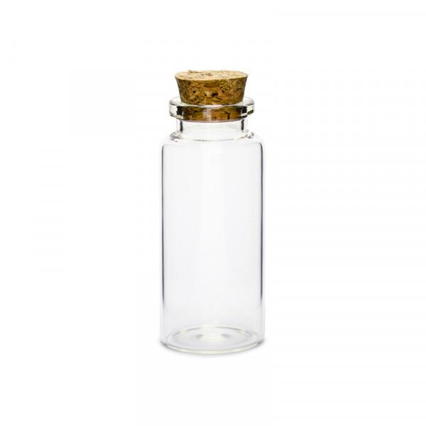 Glasflaschen mit Korken (12 Stück) 7,5 cm