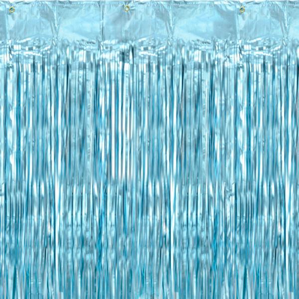 Glitter Vorhang / Backdrop 2,5 m - hellblau