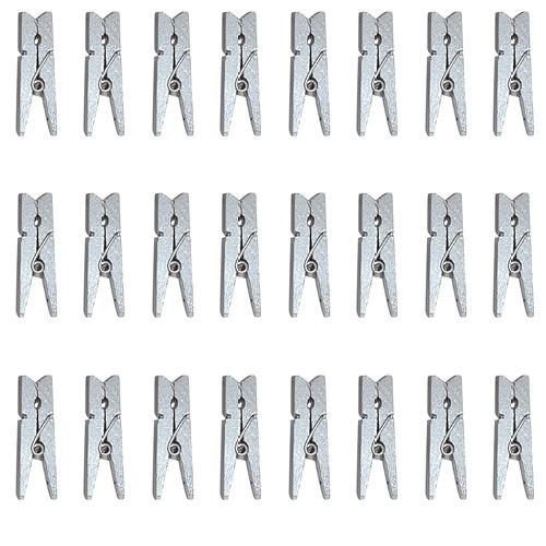 Mini-Klammern (24 Stück) - silber