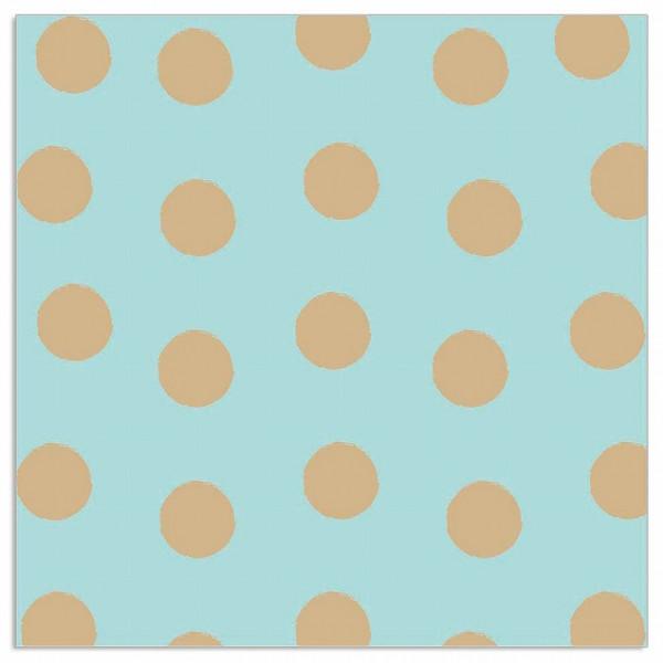 Servietten Punkte (20 Stück) - türkis & gold