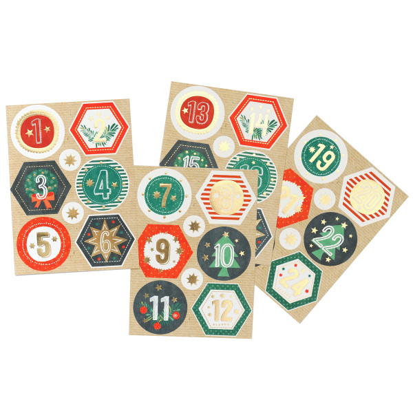 Adventsaufkleber / Sticker 'Bunte Weihnacht'