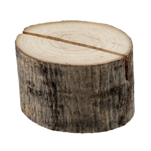 Tischkartenhalter 'Baumstamm' Holz (2 Stück)