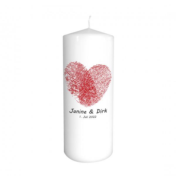 Hochzeitskerze Love Print - Farbwahl