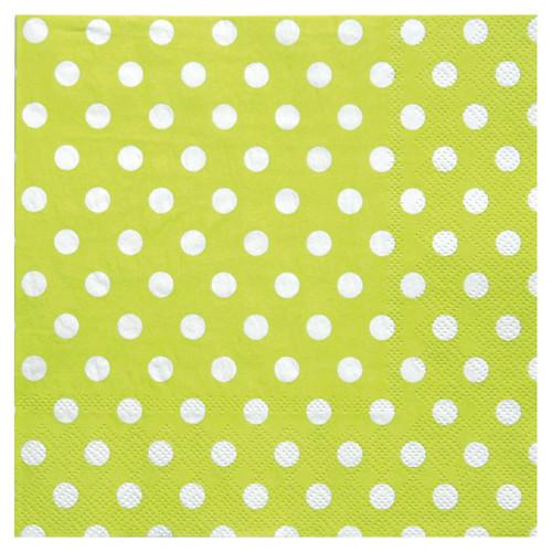 Servietten Dots / Punkte (20 Stück) - hellgrün