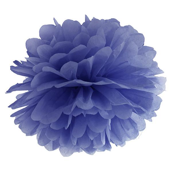 Pompom 35 cm blau