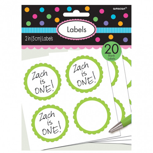 Aufkleber/ Etiketten 'Candy' (20 Stück) - hellgrün