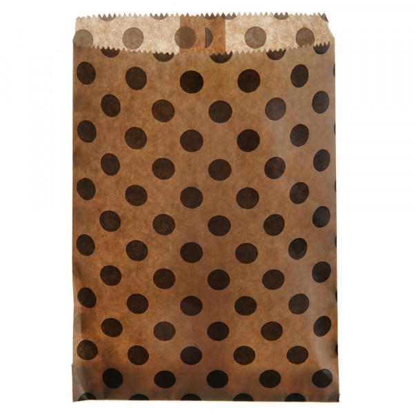 Papiertüten Punkte (24 Stück) - kraft & schwarz