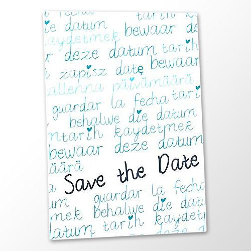 Save the Date Karte Hochzeit - International