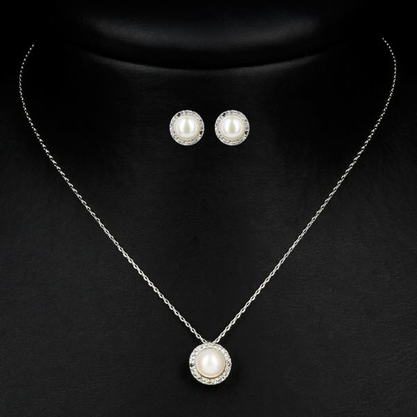 Schmuckset 'Classy' mit Perlen & Strass