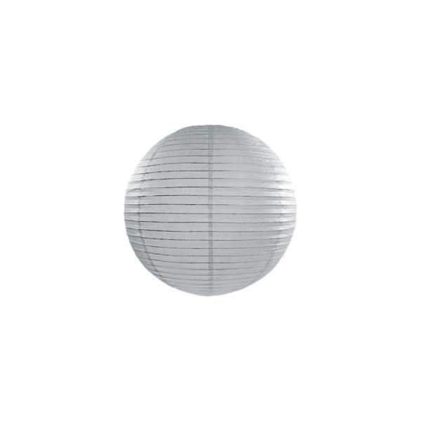 Laterne / Lampion rund 25 cm grau