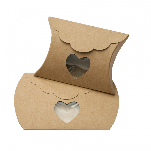 Kartonage 'Busta' Herz - kraft