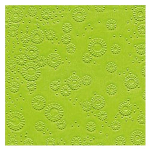 Servietten Moments geprägt (16 Stück) - hellgrün