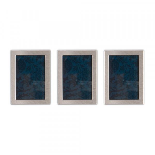 Bilderrahmen mit Magnet - silber (3 Stück)