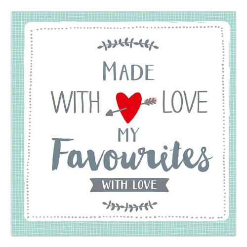 Servietten Made with Love - My Favourites (20 Stück) - mint