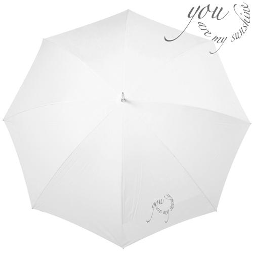 Wedding Regenschirm 'you are my sunshine' - weiß