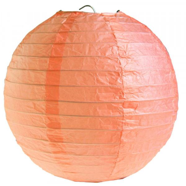 Laterne / Lampion rund 20 cm - apricot (2 Stück)