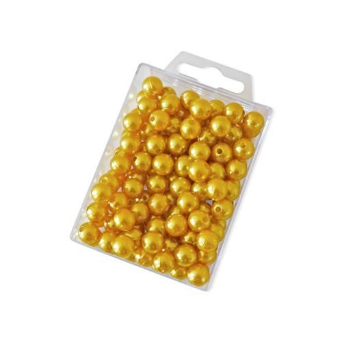 Dekoperlen zum Fädeln Gold 10 mm 115 Stück