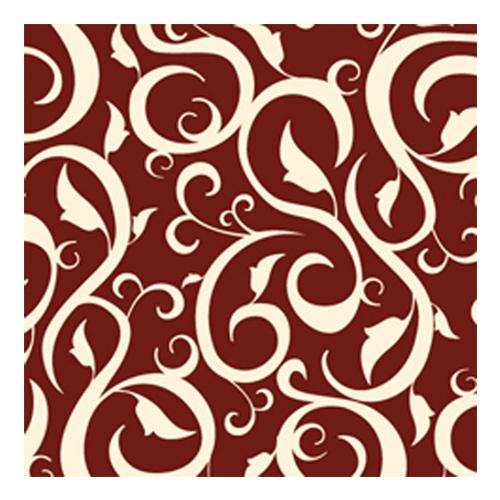 Servietten 'Ornament' (20 Stück) - braun & creme