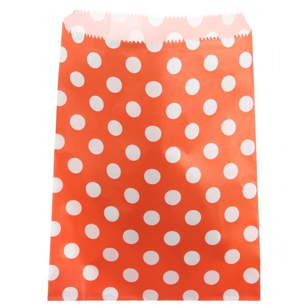 Papiertüten Punkte (24 Stück) - orange