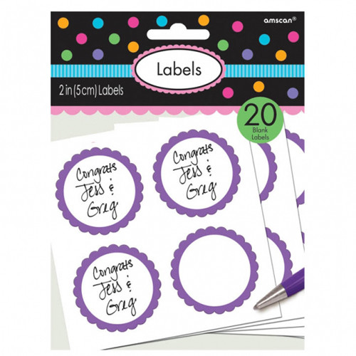 Aufkleber/ Etiketten 'Candy' (20 Stück) - lila