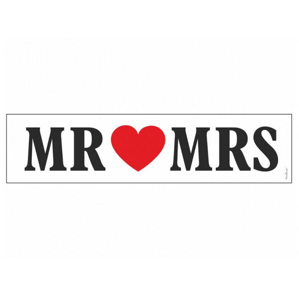 Autodekoration Nummernschild 'Mr & Mrs'