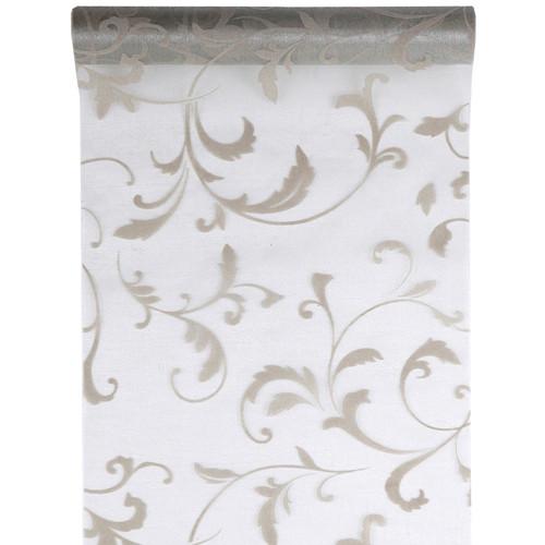 Tischläufer Arabesk 28 cm x 5 m - silber