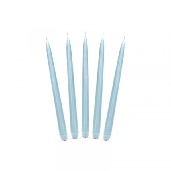 Spitzkerzen (10 Stück) - hellblau