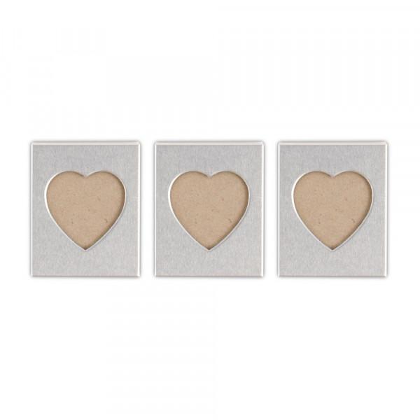 Bilderrahmen Herz mit Magnet (3 Stück)