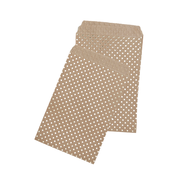 Papiertüten Punkte (25 Stück) - kraft & gold