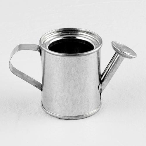 Mini-Gießkanne (silber) 12 Stück