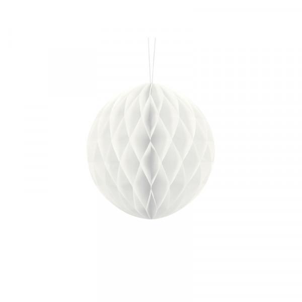 Wabenball 20 cm weiß