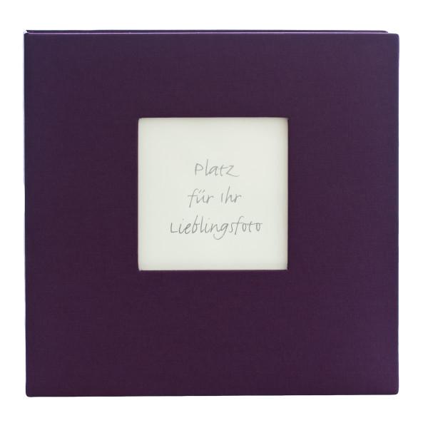 Gästebuch / Gästeordner mit Ausschnitt - lila