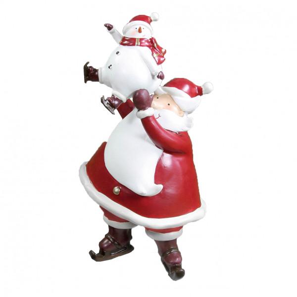 Weihnachtsfigur Nikolaus und Schneemann