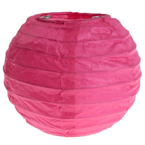 Laterne / Lampion rund 10 cm - pink (2 Stück)