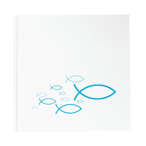 Gästebuch Fische Ichthys türkis / blau