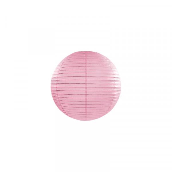 Laterne / Lampion rund 25 cm rosa