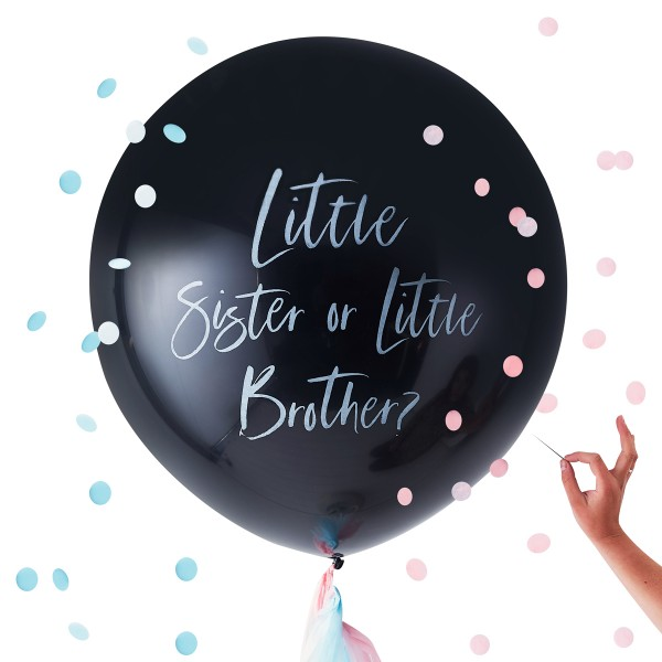 Gender Reveal Ballon 'Sister or Brother' 91 cm