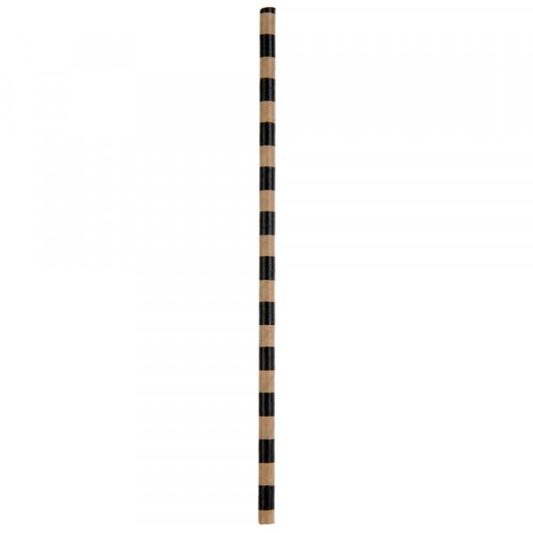 Strohhalme / Trinkhalme 'Streifen' (20 Stück) - kraft