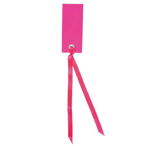 Tischkärtchen mit Satinband (12 Stück) - pink