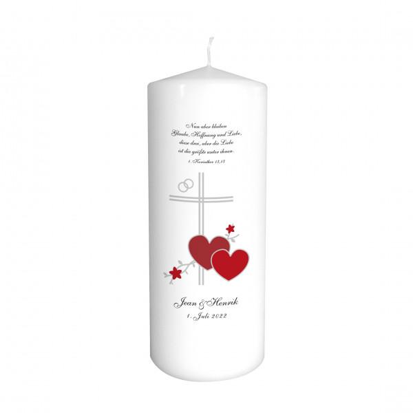 Hochzeitskerze Kreuz Maria
