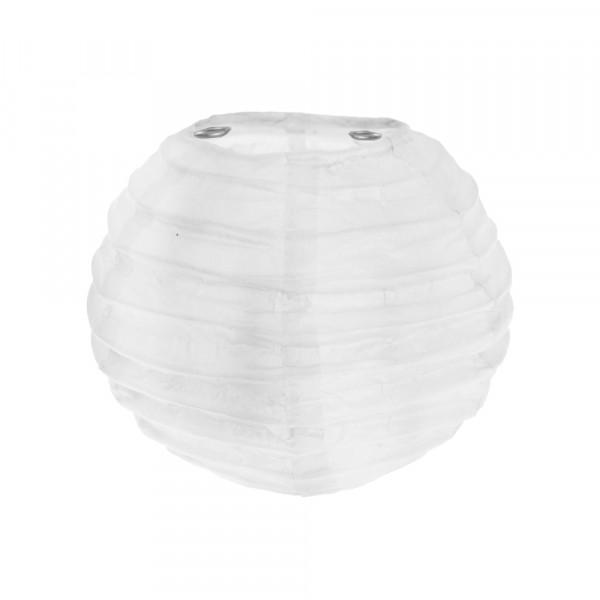 Laterne / Lampion rund 10 cm - weiß (2 Stück)