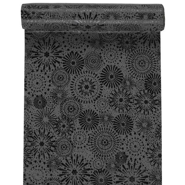 Tischläufer Feuerwerk 28 cm x 3 m - grau