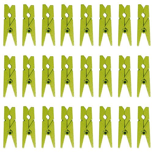 Mini-Klammern (24 Stück) - hellgrün