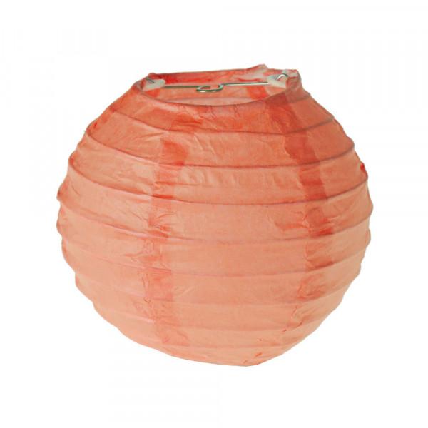 Laterne / Lampion rund 10 cm - apricot (2 Stück)