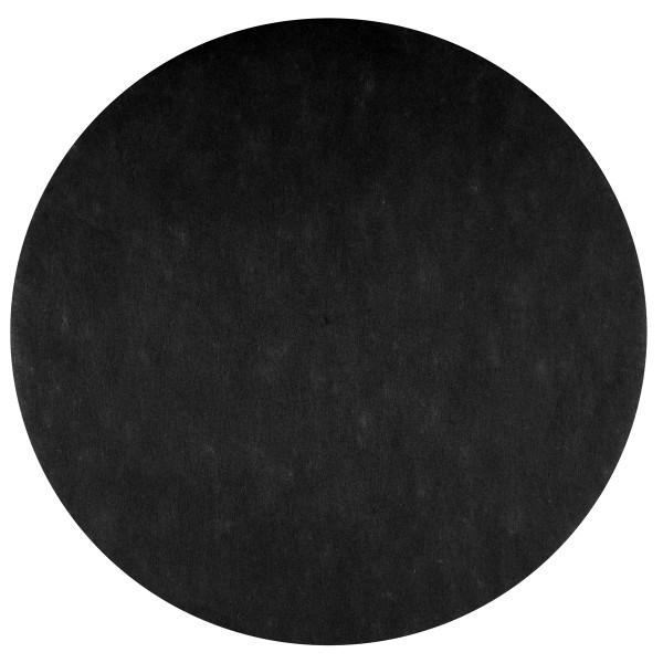 Platzset / Tischset Vlies rund 34 cm (50 Stück) - schwarz