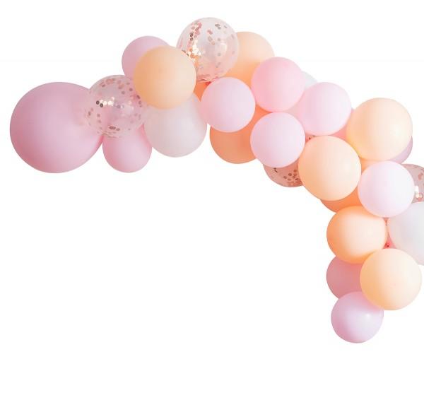 Blush Party Ballon Girlande / Bogen 60 Stück